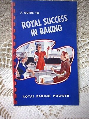 """1942 Royal Baking Powder Cookbook Booklet """"A Guide to Royal Success in Baking"""""""