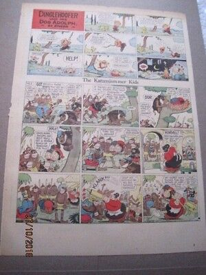 10 1920-1936 Katzenjammer Kids Sunday Comics Pages ~ Knerr & Dirks