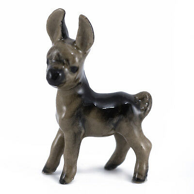 Vintage Hagen Renaker Baby Donkey #21 Miniature Figurine Glossy Later Version