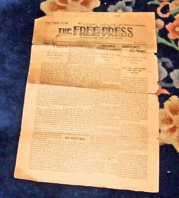 May 1907 Free Press Louisville KY newspaper~story about Coca-Cola Co.