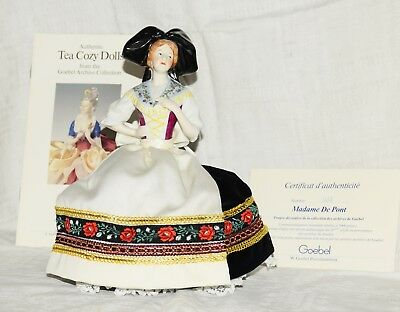 1985 Goebel W. Germany Madame De Pont Tea Cozy Limited edition #1135 of 5000 MIB