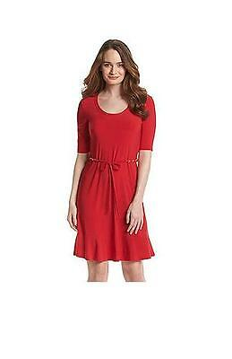 c8d17ab334e NEw Lennie for NINA LEONARD red DRESS PARTY chain belt NWT sz XL flounce