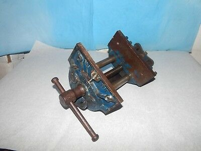Vintage Woden 89 No 1 Joiners Quick Release Bench Vice.