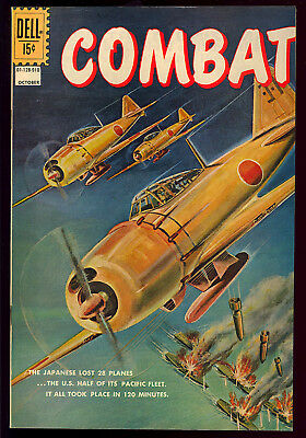 Combat #28 High Grade Painted Cover Dell File Copy War Comic 1969 VF+