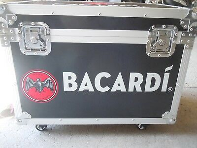 Bacardi Rum Display Cooler Rolling Ice Chest 1of A Kind Stainless Steel Aluminum