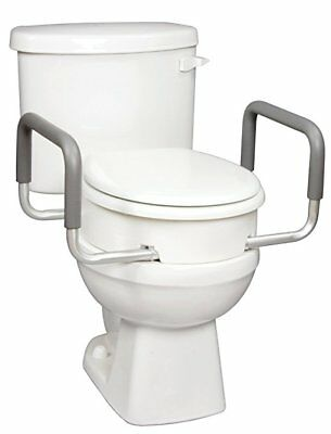 Carex Health Brands Toilet Seat Elevator with Handles for Standard Round Toilets