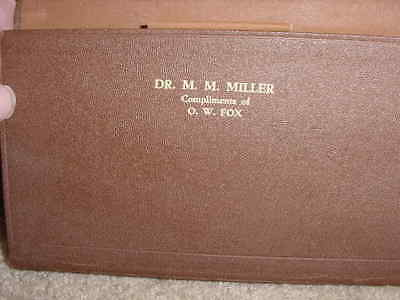 1920's Physician's Perfect Call List And Record 44Th Ed. Never Used Inscribed