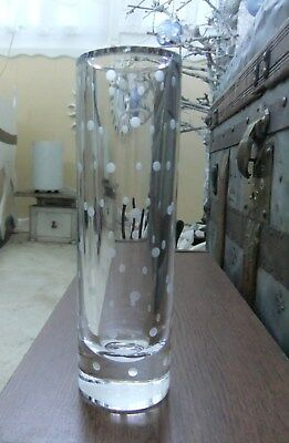 "Kate Spade Larabee Dot Cylinder Bud Vase 7 1/2"" Lenox Full Lead Crystal With Box"
