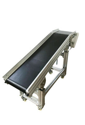 "110V 59""X11.8"" Electric Semi-tilt Conveyor Machine 19.6inch-31.5inch Adjustable"