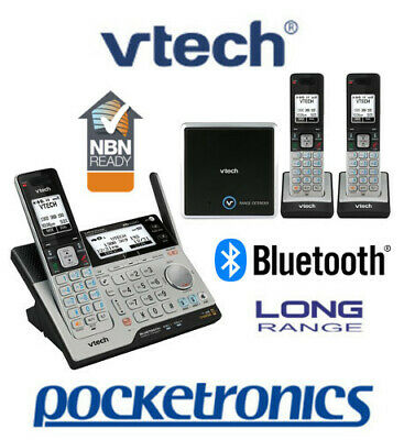 VTech 15850 TRIPLE Bluetooth Cordless Phone Handsfree 3 handsets NBN ok NEW