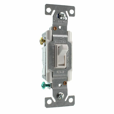 Eaton Cooper C1303-7Ltw-L Lighted Toggle Switch, 3-Way, 15A, 120V, White