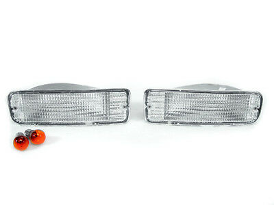 DEPO Chrome Clear Front Bumper Signal Lights For 1996-1998 Toyota 4Runner