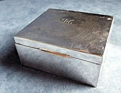 GOOD ~ SILVER Plated ~ Trinket / Jewelry CASE ~ c1930