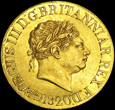 KING GEORGE THE III 1820 GOLD SOVEREIGN The best I have seen...