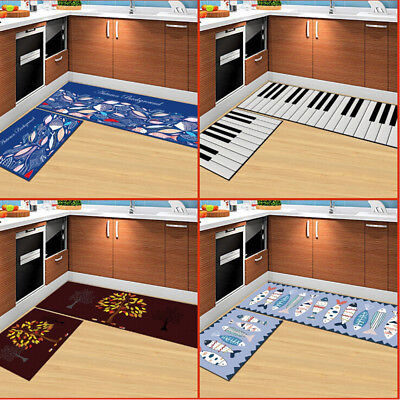 Non-Slip Washable Rectangle Pad Kitchen Rug Bedroom Floor Mats Carpet WE9