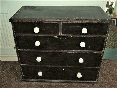 "Antique Vintage Chest 0f Draws See Details ""A"""