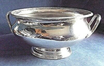 """GOOD Large 14"""" ~ SILVER Plated ~ Ice BUCKET / Serving TUREEN ~ c1900 by Barker"""