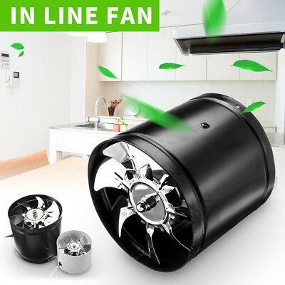 4''/ 6'' 1080 m³/h Inline Duct Fan Hydroponic Exhaust Blower Air Tent Vent Blade