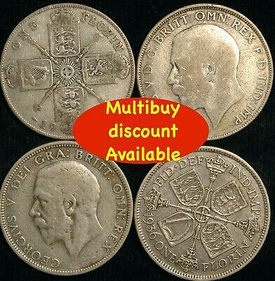 Florin George V 1920  -  1936 Silver Choose your Date