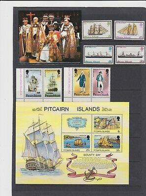 Pitcairn Is MNh sets and mini sheets