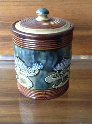ROYAL DOULTON By Lily Partington 1930's Art Nouveau Design Tobacco/Ginger Jar
