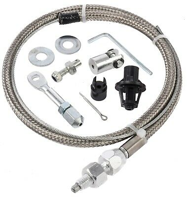 JEGS 157018 Stainless Steel Throttle Cable Universal 24 in. Stainless Steel Oute
