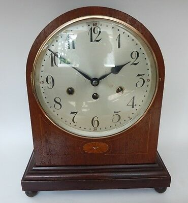 Junghans Early 20th. Cen. Mahogany Case Westminster Chiming Bracket Clock 2832