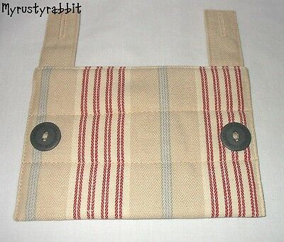 Longaberger Awning Stripe Taupe Fabric Handle Gripper - New