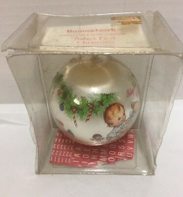 Hummelwerk Ornament Baby's First Christmas c1978 Vintage Satin