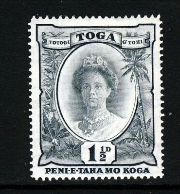 TONGA 1935 1½d. Grey-Black Watermark Tortoises SG 56 MINT
