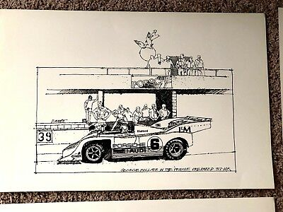 Porsche High Quality Lithograph Rare Classic Series Long Sold Out