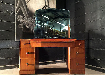 Can Deliver Art Deco Walnut 1920 1930 Dressing Table With Mirror Antique Vintage