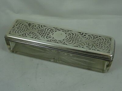 GEORGE IV silver topped DRESSING TABLE BOX, 1823