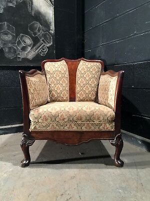 Can Deliver Vintage Antique Edwardian Mahogany Tub Club Chair Regal Furniture A