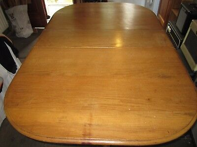 VINTAGE SOLID LIGHT OAK DROP LEAF TABLE 1950's?? SANDED AND WAXED LOVELY PIECE