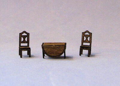 1/144th Scale Drop leaf table & Chair set kit made by sdk miniatures LLC
