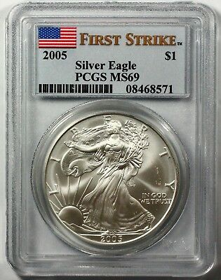 2005 Silver American Eagle First Strike MS69 PCGS