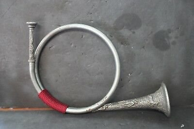 Vintage Pewter Fox Hunting Horn