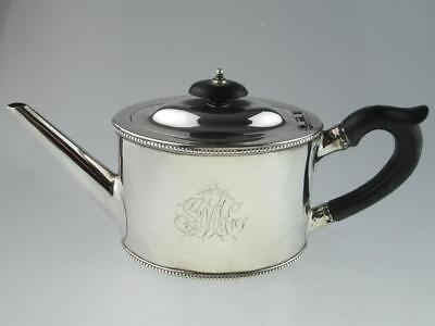 Antique 18th Century Georgian Solid Silver Teapot London 1784 By William Sumner
