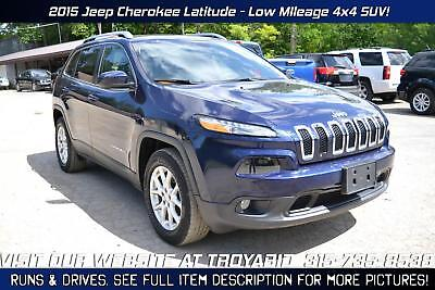 Cherokee NO RESERVE 2015 Jeep Cherokee 4x4 Rebuildable SUV Repairable Damaged Wrecked