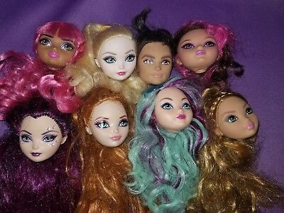 Ever After High Doll Replacement Heads OOAK Reroot Parts Lot As Is #7B EAH