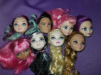 Ever After High Doll Replacement Heads OOAK Reroot Parts Lot As Is #7C EAH