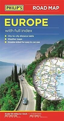 New, Philip's Europe Road Map, , Book