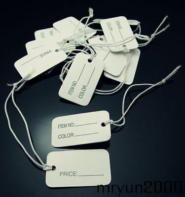 100PCS Store String Jewelry Jeweler Reseller Wholesale Display Price Tags FREE