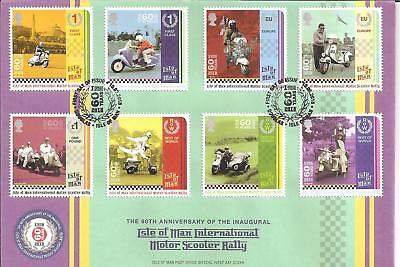 Vespa , Lambretta, 60 years Manx Scooter Rally, First Day Cover