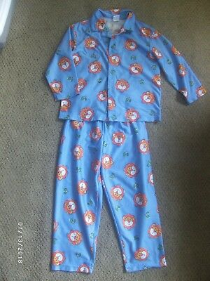 Vintage Gymboree Boy Pajamas, Lion, 2 pieces, Size Large, 4 to 5 yrs. Blue