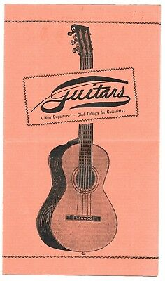 1920s Guitars @ J R Holcomb Company, Cleveland Ohio small catalog, priced; CASES