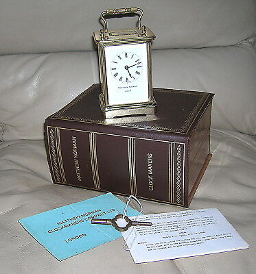 Matthew Norman 1754 - 8 Day Spring Carriage Clock With Box & Papers - Best Offer