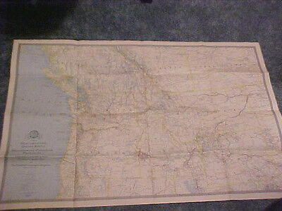1941 Map Northwestern U.s. & Neighboring Canadian Provinces National Geographic