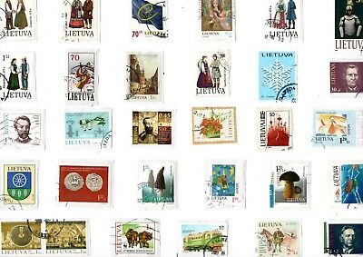 A Lovely Selection Of Kiloware Stamps From Lithuania